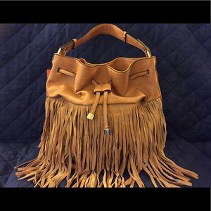 NEW Vieta Drawstring Fringe Handbag